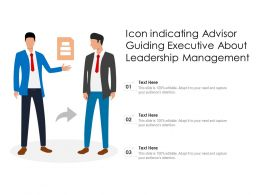 Icon Indicating Advisor Guiding Executive About Leadership Management