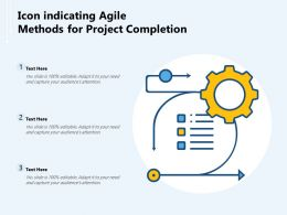 Icon Indicating Agile Methods For Project Completion