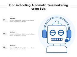Icon Indicating Automatic Telemarketing Using Bots