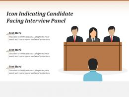 Icon Indicating Candidate Facing Interview Panel
