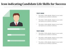 Icon Indicating Candidate Life Skills For Success