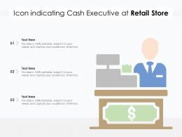 Icon Indicating Cash Executive At Retail Store