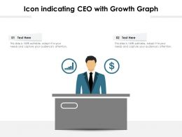 Icon Indicating CEO With Growth Graph