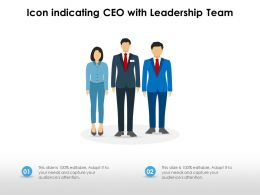Icon Indicating CEO With Leadership Team
