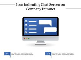 Icon Indicating Chat Screen On Company Intranet