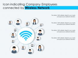 Icon Indicating Company Employees Connected By Wireless Network