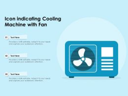 Icon Indicating Cooling Machine With Fan