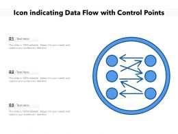Icon Indicating Data Flow With Control Points