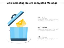 Icon Indicating Delete Encrypted Message