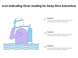 Icon Indicating Diver Reading For Deep Dive Adventure