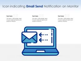 Icon Indicating Email Send Notification On Monitor