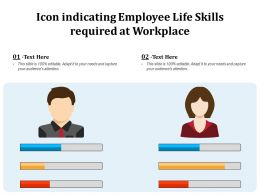 Icon Indicating Employee Life Skills Required At Workplace