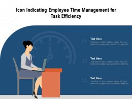 Icon Indicating Employee Time Management For Task Efficiency