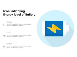 Icon Indicating Energy Level Of Battery