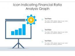 Icon Indicating Financial Ratio Analysis Graph