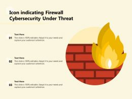 Icon Indicating Firewall Cybersecurity Under Threat