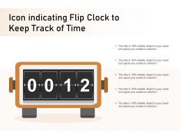Icon Indicating Flip Clock To Keep Track Of Time
