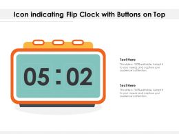 Icon Indicating Flip Clock With Buttons On Top