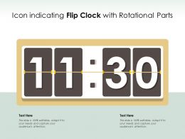 Icon Indicating Flip Clock With Rotational Parts