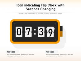 Icon Indicating Flip Clock With Seconds Changing
