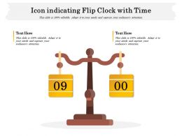 Icon Indicating Flip Clock With Time