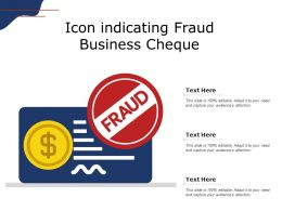 Icon Indicating Fraud Business Cheque