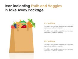 Icon Indicating Fruits And Veggies In Take Away Package