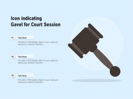 Icon Indicating Gavel For Court Session