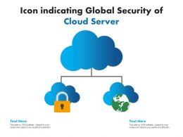 Icon Indicating Global Security Of Cloud Server