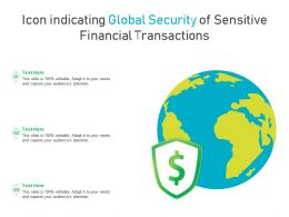 Icon Indicating Global Security Of Sensitive Financial Transactions