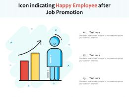 Icon Indicating Happy Employee After Job Promotion