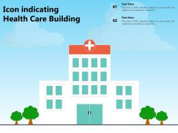 Icon Indicating Health Care Building