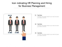 Icon Indicating HR Planning And Hiring For Business Management