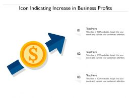 Icon Indicating Increase In Business Profits