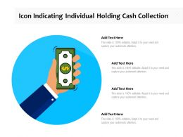 Icon Indicating Individual Holding Cash Collection