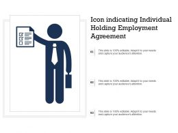 Icon Indicating Individual Holding Employment Agreement