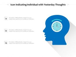 Icon Indicating Individual With Yesterday Thoughts