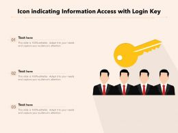 Icon Indicating Information Access With Login Key
