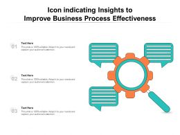 Icon Indicating Insights To Improve Business Process Effectiveness
