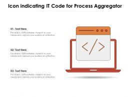 Icon Indicating It Code For Process Aggregator