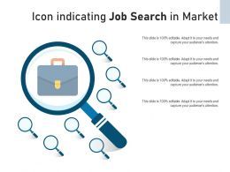 Icon Indicating Job Search In Market