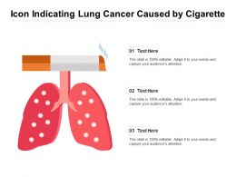 Icon Indicating Lung Cancer Caused By Cigarette