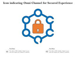 Icon Indicating Omni Channel For Secured Experience