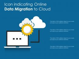 Icon Indicating Online Data Migration To Cloud