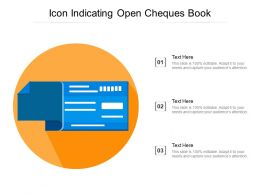 Icon Indicating Open Cheques Book