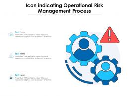 Icon Indicating Operational Risk Management Process