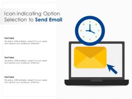 Icon Indicating Option Selection To Send Email