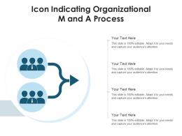 Icon Indicating Organizational M And A Process