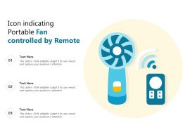 Icon Indicating Portable Fan Controlled By Remote