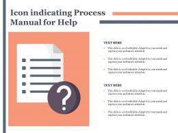 Icon Indicating Process Manual For Help